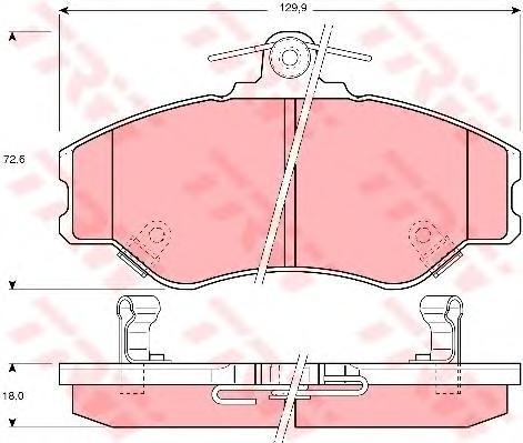 Колодки тормозные дисковые TRW/Lucas GDB3089GDB3089