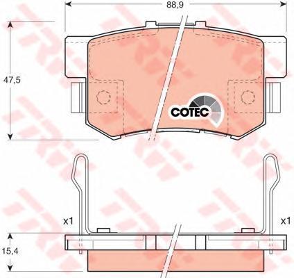 Колодки тормозные дисковые TRW/Lucas GDB3154GDB3154