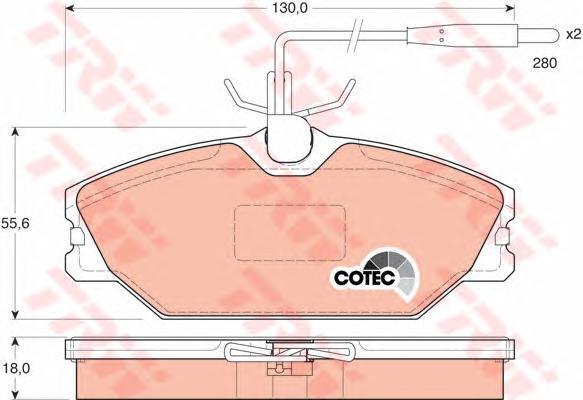 Колодки тормозные дисковые TRW/Lucas GDB1030GDB1030