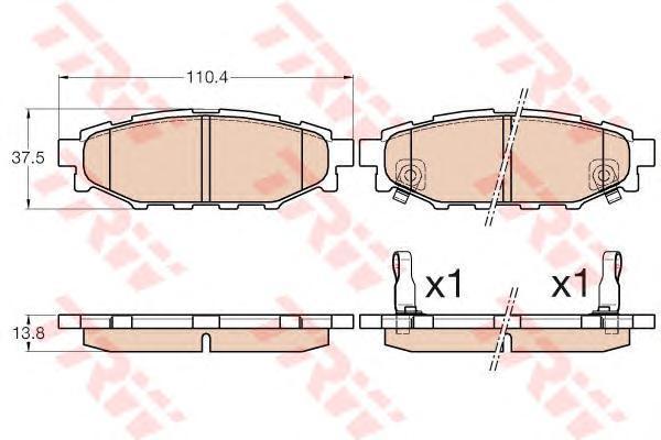 Колодки тормозные задние TRW/Lucas GDB3568GDB3568