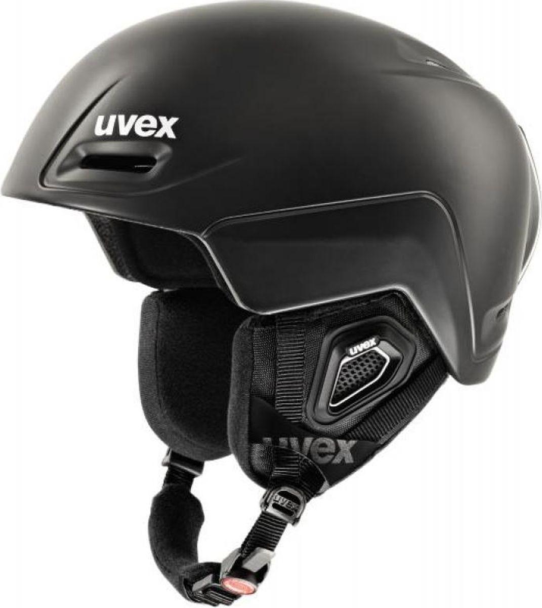 Шлем горнолыжный Uvex Jimm Helmet, цвет: черный матовый. Размер S6206Удобный шлем от Uvex обеспечит безопасность на склоне. В модели предусмотрена съемная защита ушей.Гипоаллергенная подкладка и регулируемая вентиляция гарантируют комфорт во время катания. Фиксатор стрэпа маски и застежка monomatiс, которую легко отрегулировать одной рукой, служат для удобства использования. Сделано в Германии.