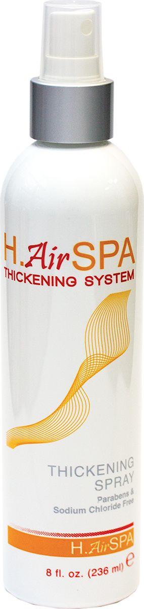 HairSpa Спрей утолщающий, 236 млHS75hiсkening System от H.AirSPA создана для создания объема на тонких, безжизненных волосах. Гидролизированный кератин, входящий в состав спрея, способствуют утолщению каждого отдельного волоса и созданию эффекта густых, плотных волос.Придает объем и плотность тонким волосам.