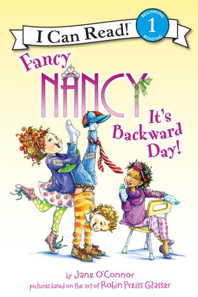 Fancy Nancy: It's Backward Day! kinston kst91869 butterfly w rhinestones pattern pu case w stand for iphone 6 white blue