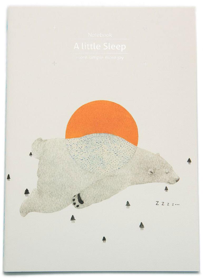 Еж-стайл Тетрадь A Little Sleep Медведь в линейку 38 листов еж стайл тетрадь they are classic полоска a5 44 листа в линейку