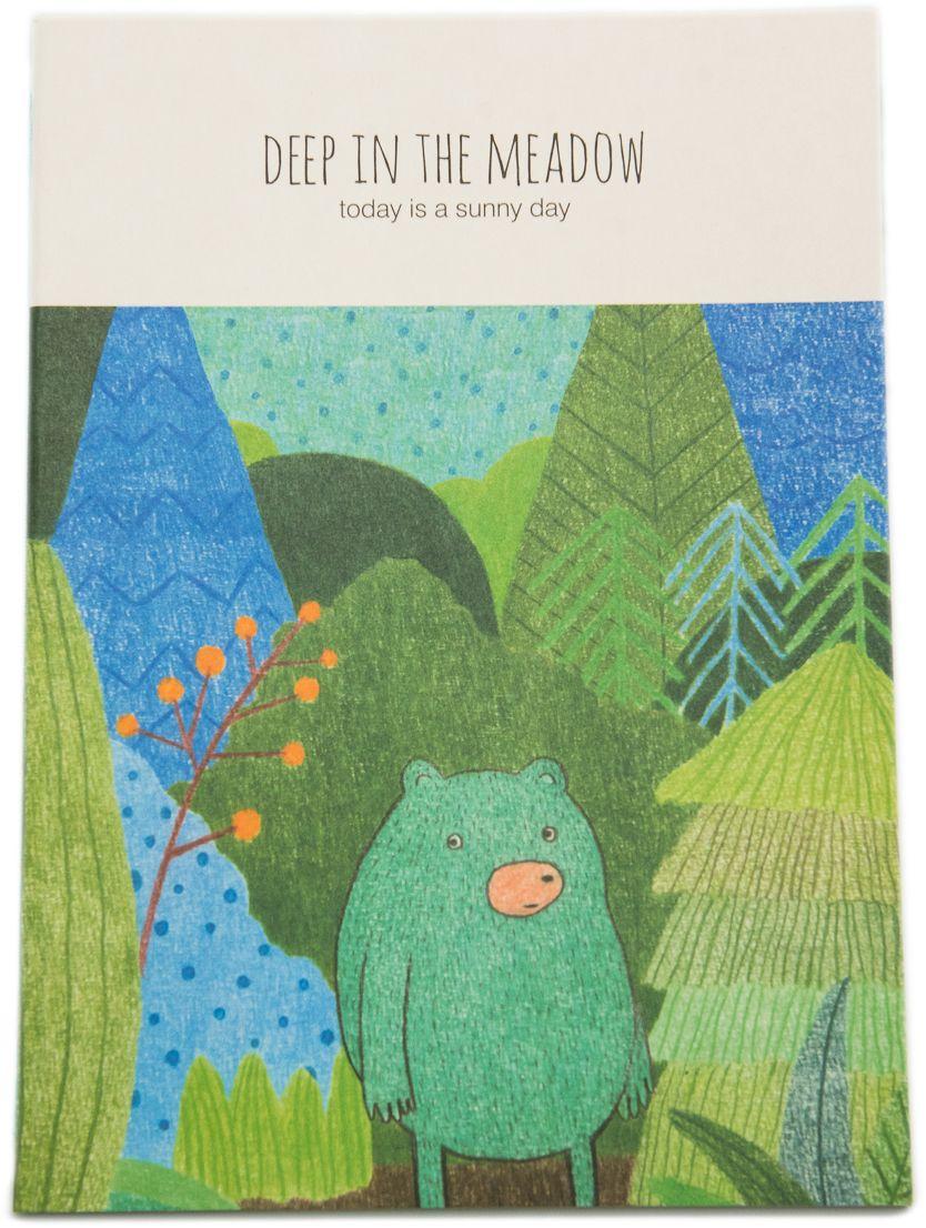 Еж-стайл Тетрадь Deep In The Meadow Миша в линейку 38 листов0101430