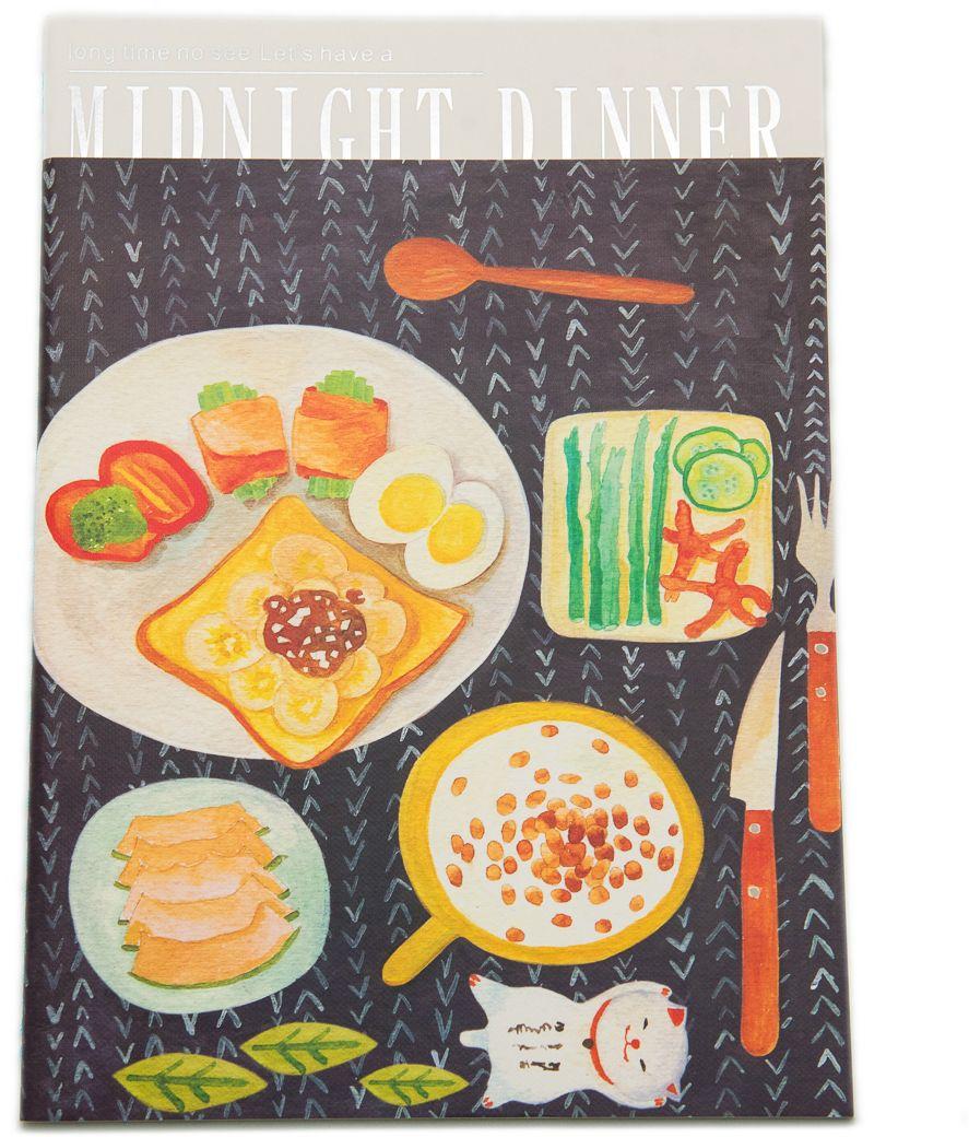 Еж-стайл Тетрадь Midnight Dinner в линейку 38 листов цвет черный0101437