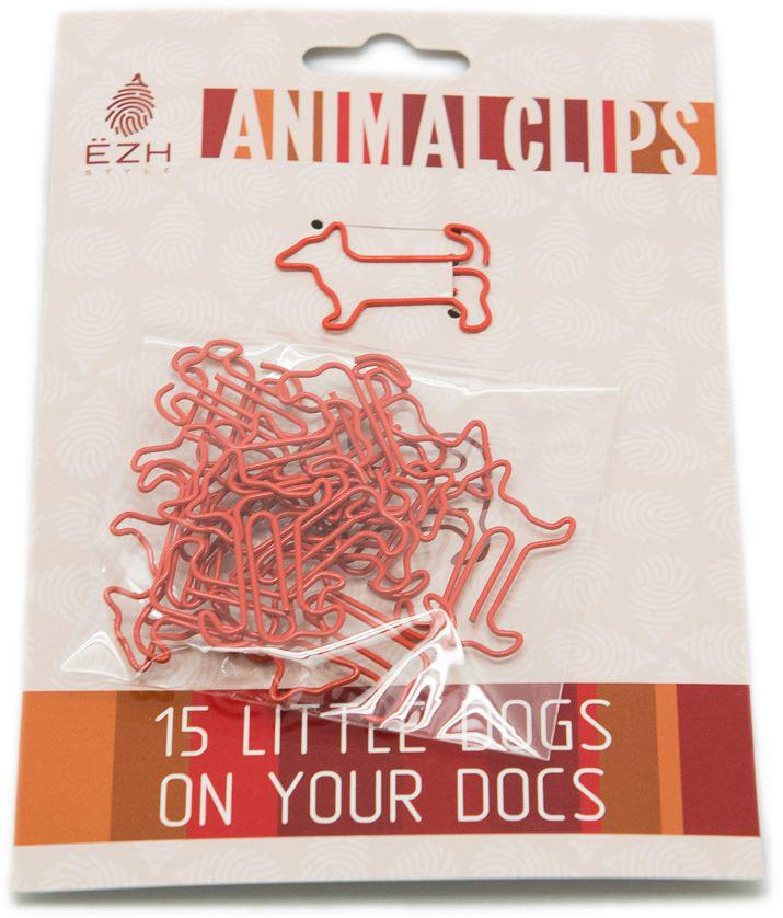 Еж-стайл Скрепки фигурные Собаки цвет оранжевый