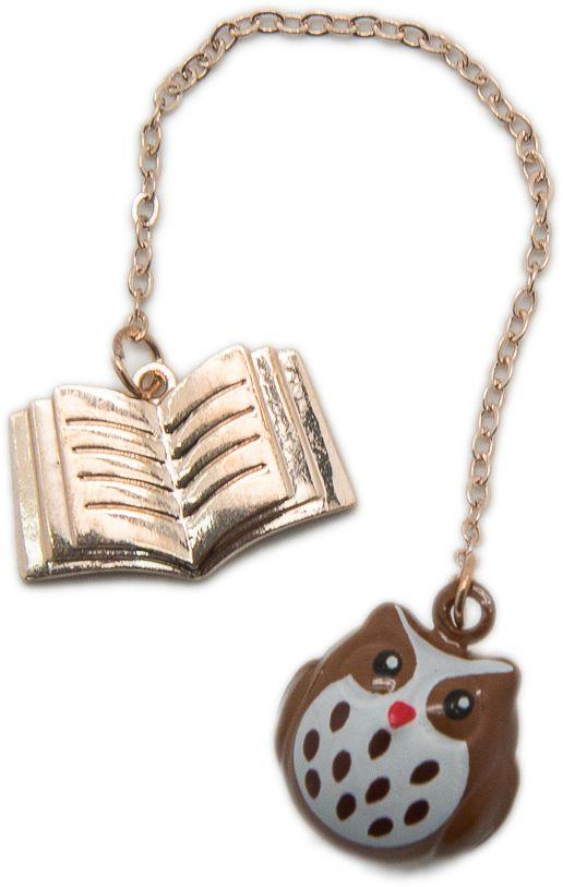 Еж-стайл Закладка Совушка цвет коричневый0909049Милая закладка Еж-стайл выполнена из алюминия. Закладка не просто красивая, но и функциональная: позволяет моментально найти нужное место в книге.