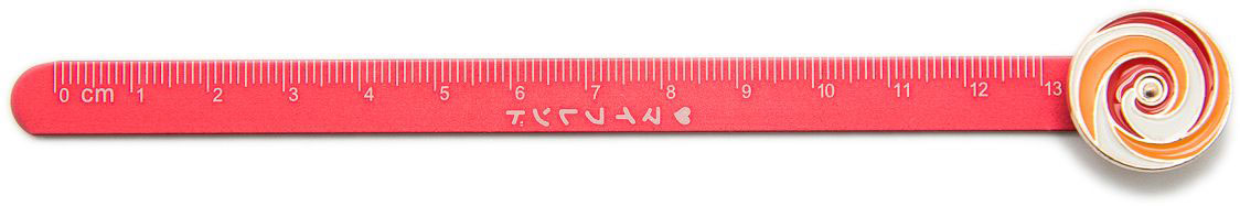 Еж-стайл Линейка Гипнокруг цвет красный 18,5 см
