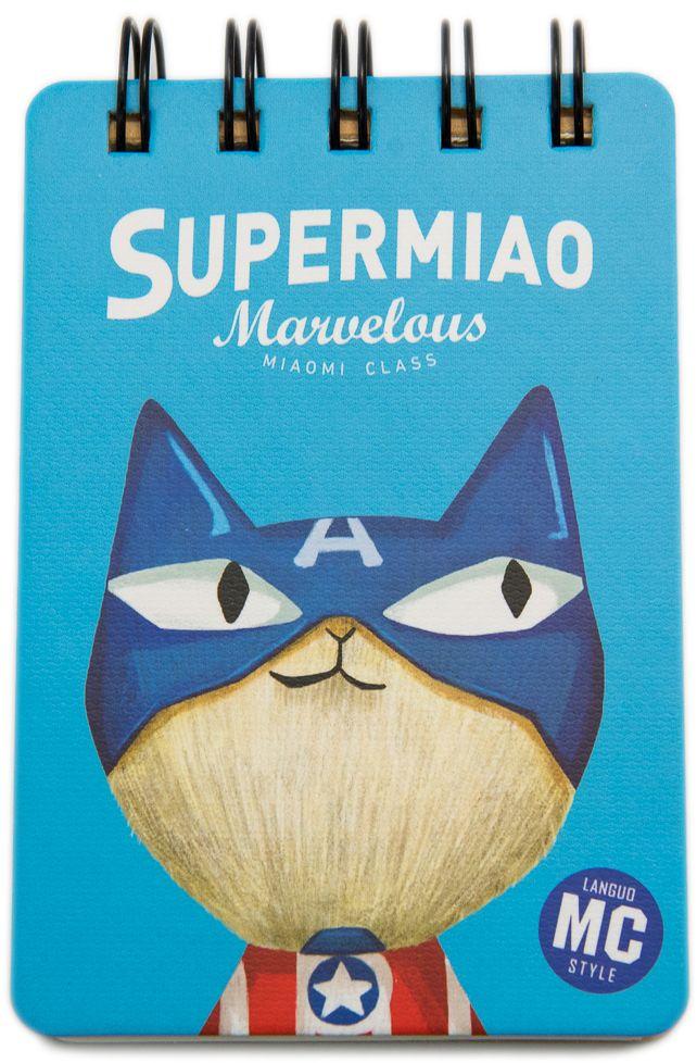 Еж-стайл Блокнот Supermiao 2 Captain в линейку 110 листов0909246