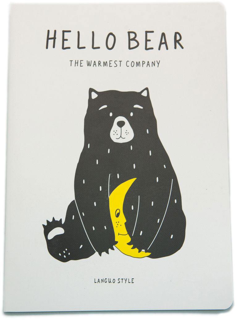 Еж-стайл Тетрадь Hello Bear To Night A5 44 листа в линейку еж стайл тетрадь they are classic полоска a5 44 листа в линейку