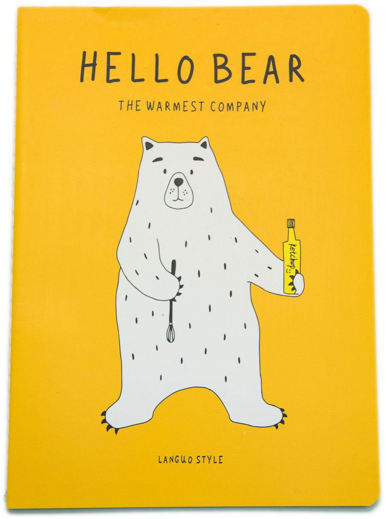 Еж-стайл Тетрадь Hello Bear Summer Hot в линейку 44 листа0909267Тетрадь Еж-стайл подойдет как для учебы, так и для работы. Обложка тетради выполнена из картона и дополнена изображением медведя. Внутренний блок состоит из 44 листов бумаги. Листы тетради сшиты между собой.