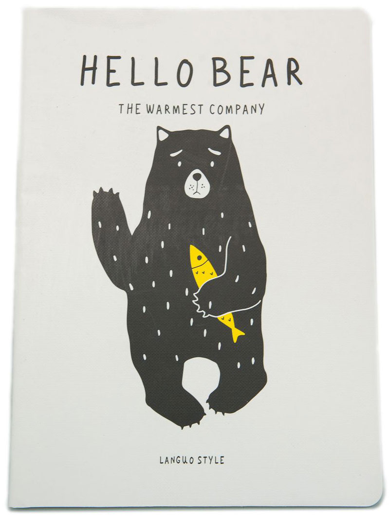 Еж-стайл Тетрадь Hello Bear My Fish A5 в линейку 44 листа0909268