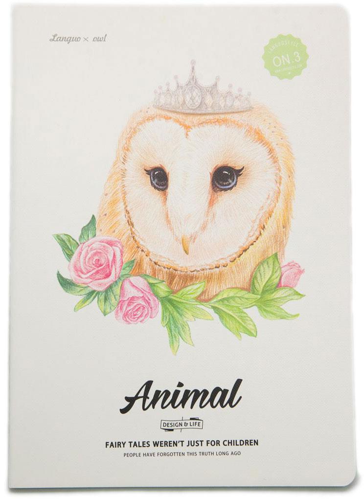 Еж-стайл Тетрадь Animal Owl 3 44 листа в линейку еж стайл тетрадь kitten с игрушкой a5 44 листа в линейку