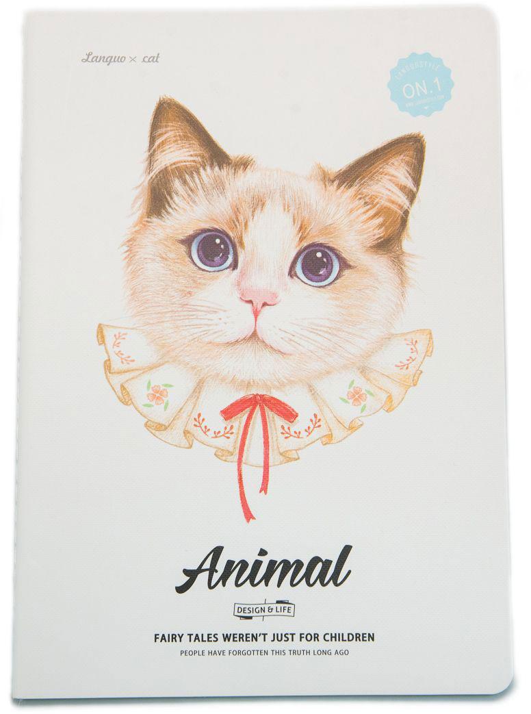Еж-стайл Тетрадь Animal Cat 1 A5 в линейку 44 листа0909273