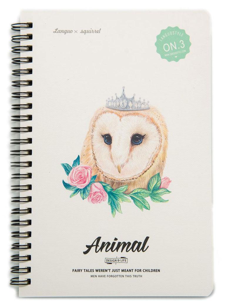 Еж-стайл Тетрадь Animal Owl 3 A5 в линейку 68 листов0909274
