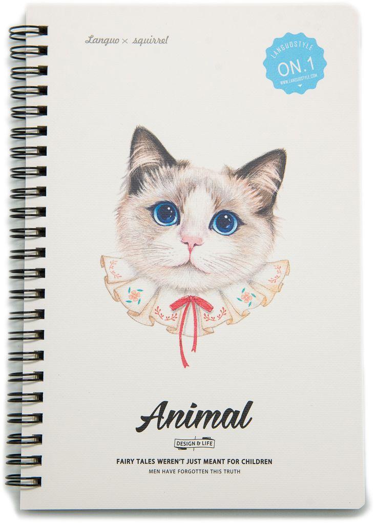 Еж-стайл Тетрадь Animal Cat 1 A5 68 листов в линейку еж стайл тетрадь they are classic полоска a5 44 листа в линейку