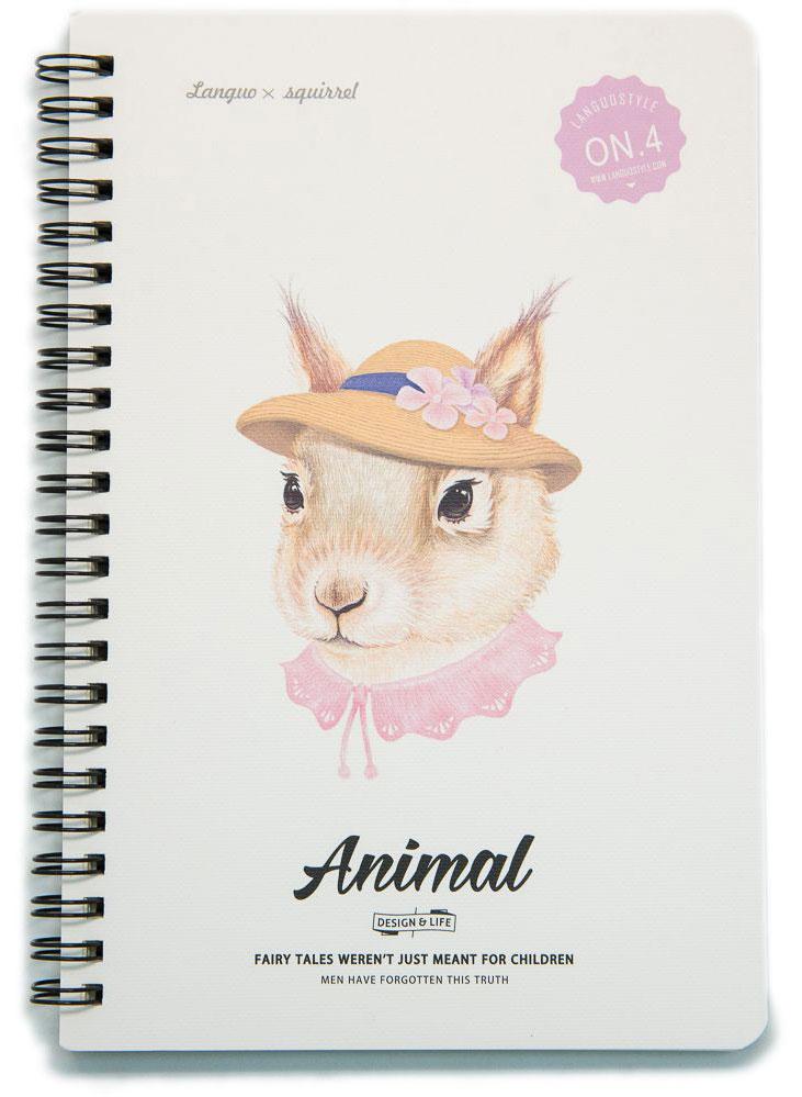Еж-стайл Тетрадь Animal Squirrel 4 A5 в линейку 68 листов0909276