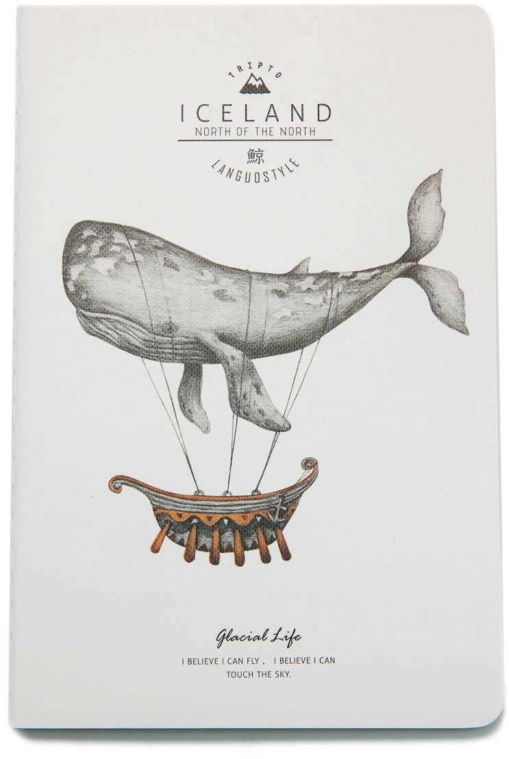 Еж-стайл Тетрадь Iceland Whale Я дирижабль A5 в линейку 38 листов0909283