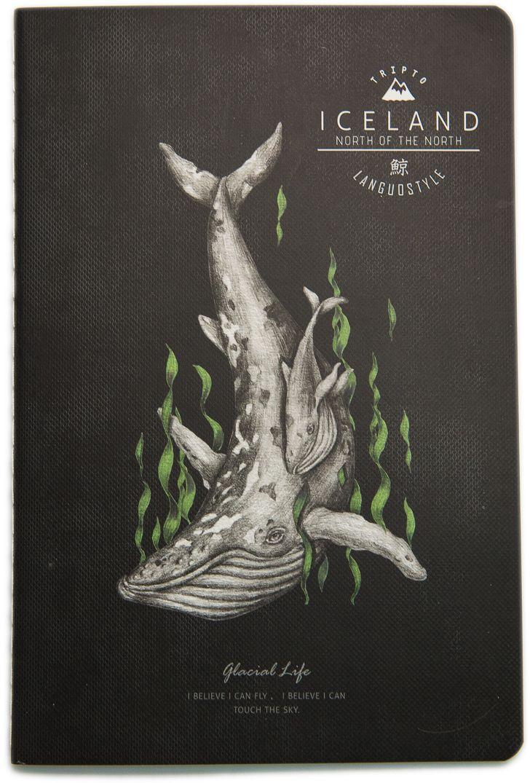 Еж-стайл Тетрадь Iceland Whale На дне A5 38 листов в линейку0909284Тетрадь Еж-стайл подойдет как для учебы, так и для работы. Обложка тетради выполнена из картона и дополнена изображением кита. Внутренний блок состоит из 38 листов. Листы тетради сшиты между собой.