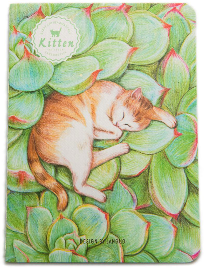 Еж-стайл Блокнот Kitten В зелени в линейку 24 листа0909290