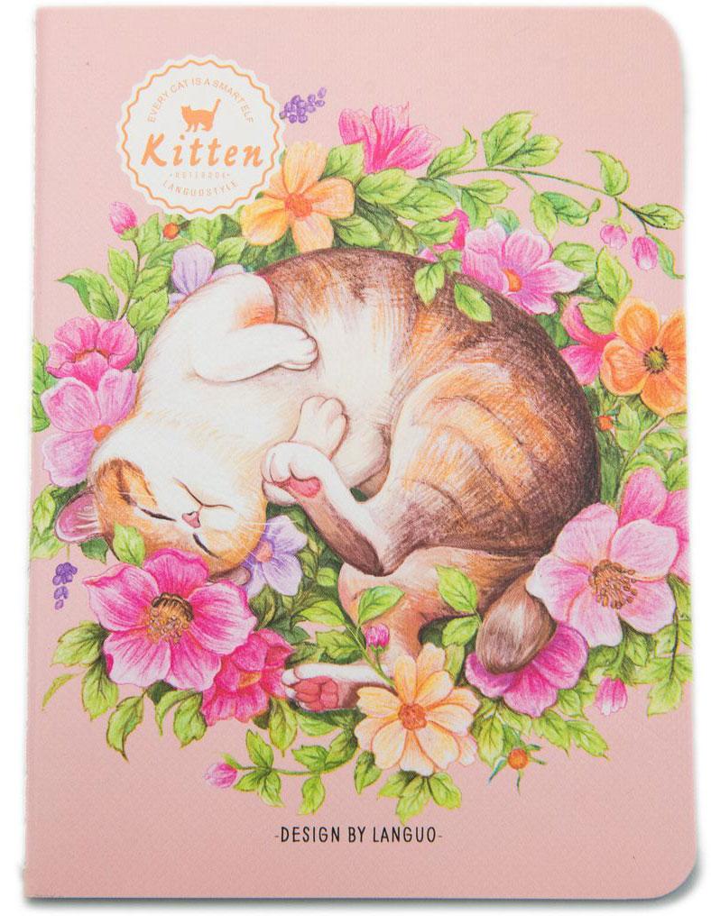 Еж-стайл Блокнот Kitten В букете в линейку 24 листа0909291