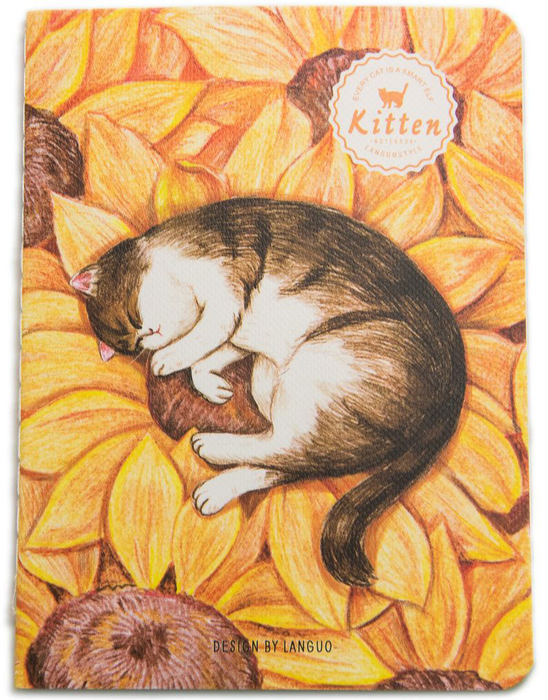 Еж-стайл Блокнот Kitten В подсолнухе в линейку 24 листа0909293