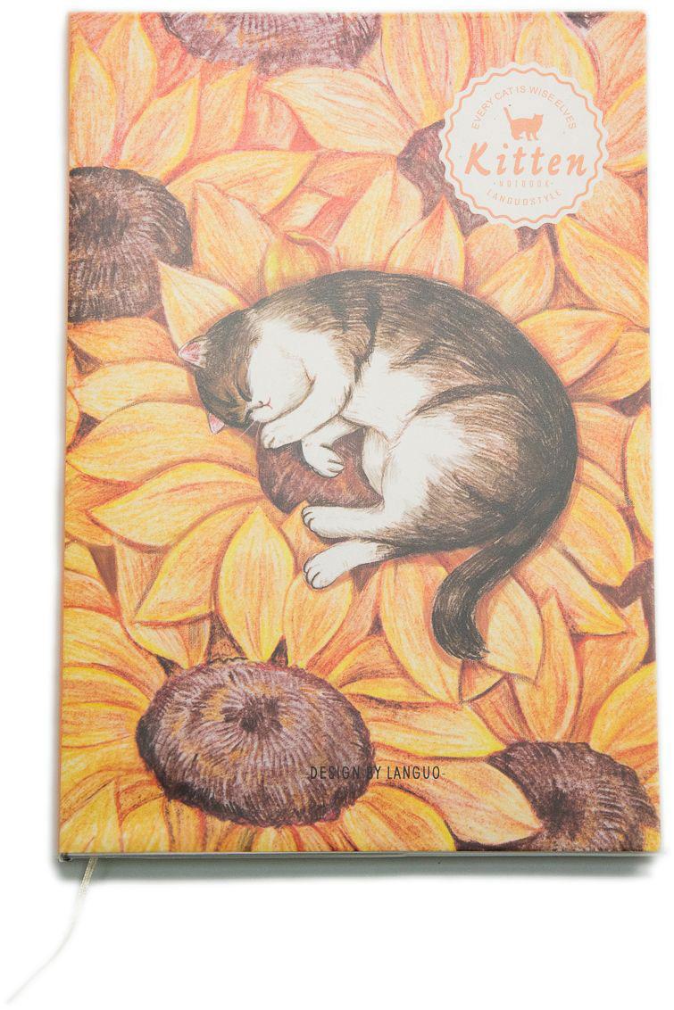 Еж-стайл Тетрадь Kitten В подсолнухе A5 в линейку 44 листа0909294