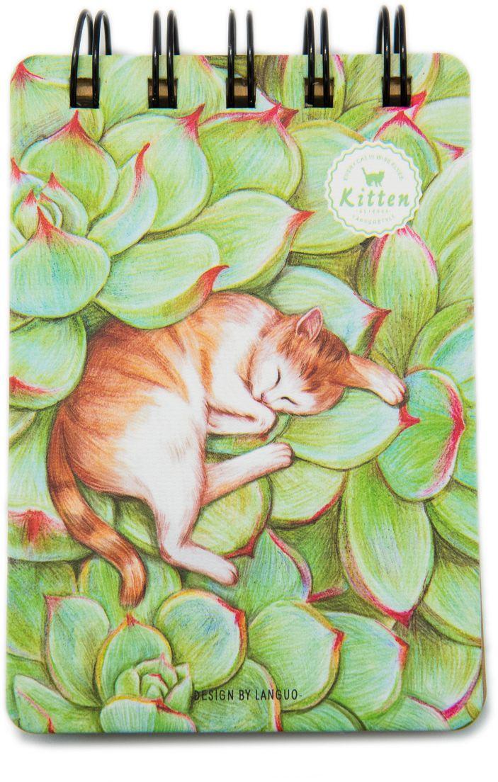 Еж-стайл Блокнот Kitten В зелени 110 листов в линейку0909298Блокнот Еж-стайл можно использовать в качестве ежедневника, блокнота для рисования, написания сочинений или важных событий. Обложка выполнена из плотного картона и оформлена изображением кота. Внутренний блок состоит из 110 листов в линейку.