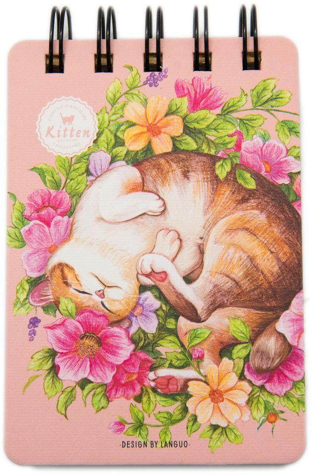 Еж-стайл Блокнот Kitten В букете в линейку 110 листов0909301