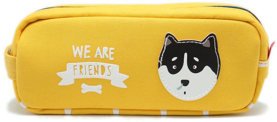 Еж-стайл Пенал-косметичка We Are Friends цвет желтый еж стайл тетрадь they are classic полоска a5 44 листа в линейку