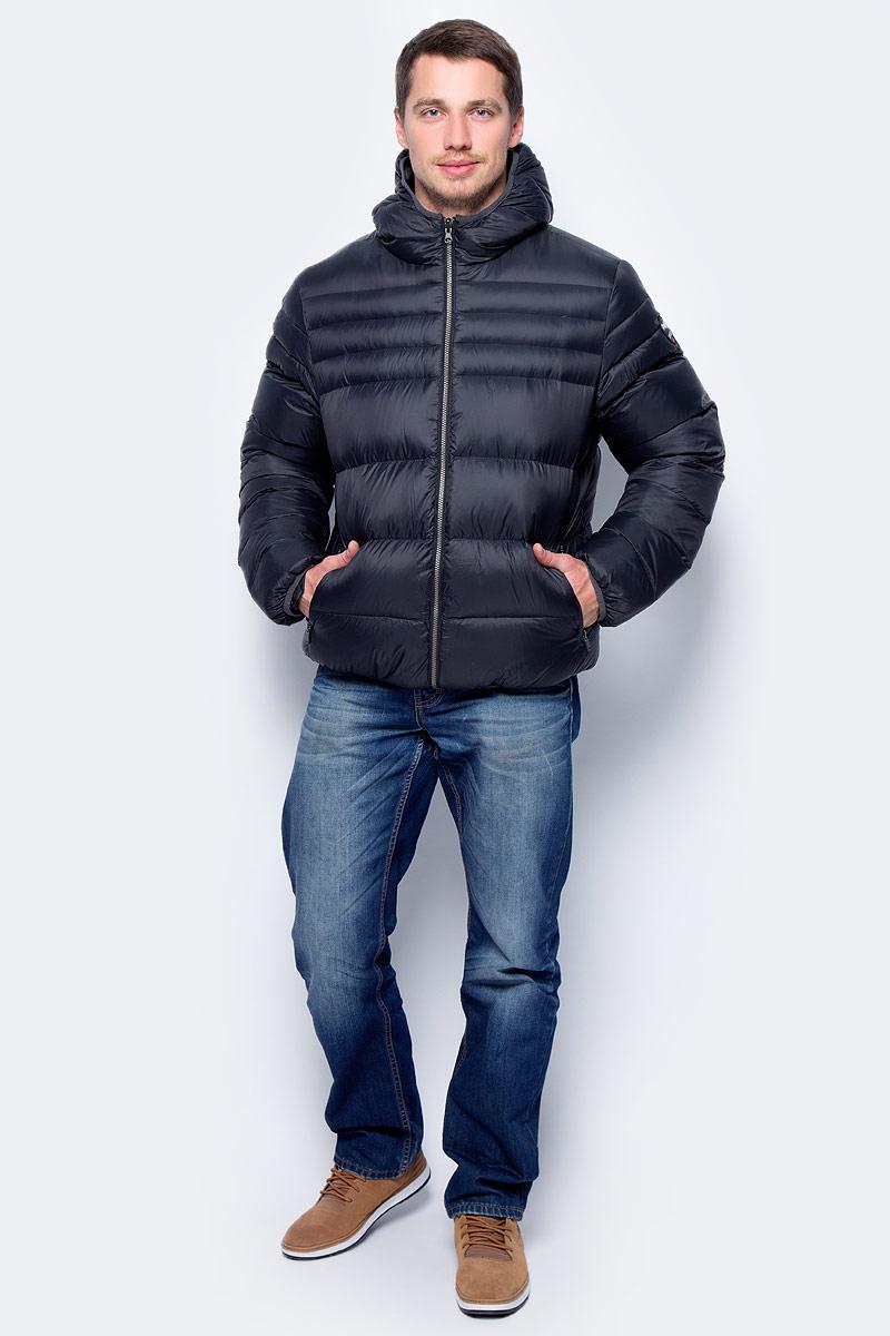 Пуховик мужской Pajar Hudson, цвет: черный. P6N380F6CI. Размер L (50)P6N380F6CIПуховик мужской Pajar с длинными рукавами и капюшоном выполнен из прочного нейлона. Пуховик застегивается на застежку-молнию.