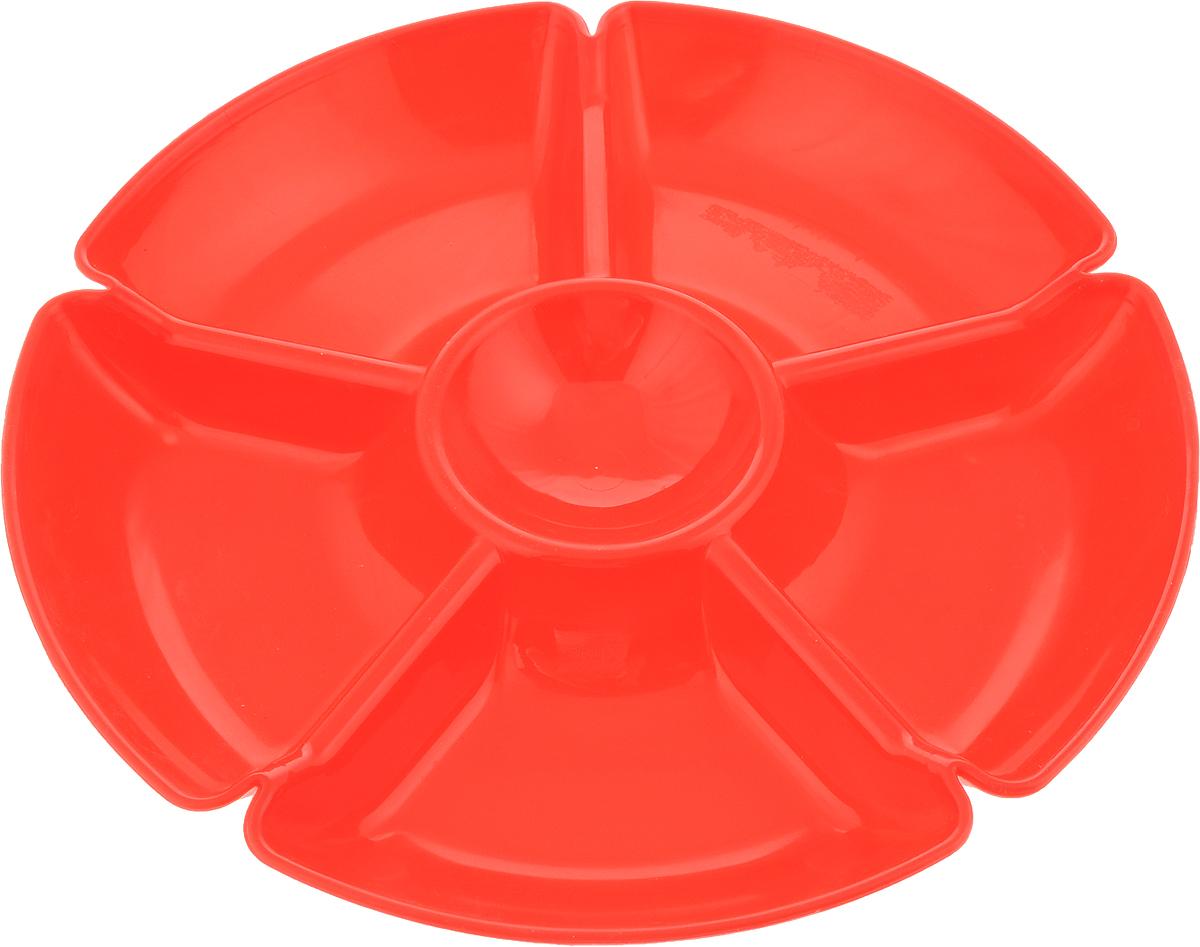 Менажница Gotoff, 6 секций, диаметр 28 смWTC-280_красныйПрактичная менажница Gotoff изготовлена из качественного полипропилена. Изделие имеет шесть секций для блюд.Такая менажница займет достойное место на вашей кухне.Диаметр: 28 см.