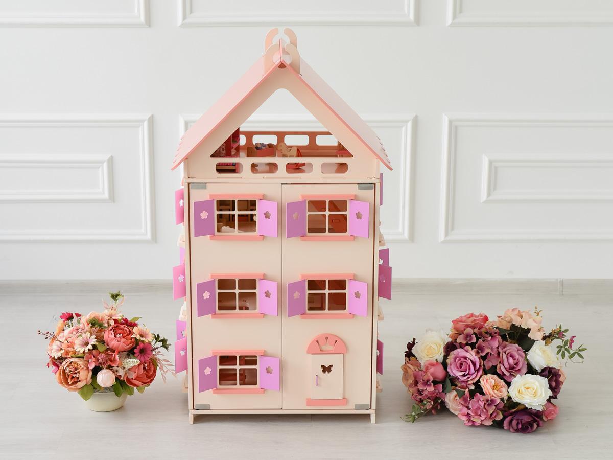 Gradss Вилла для кукол Нежная роза дополнительный этаж для домика смоланд