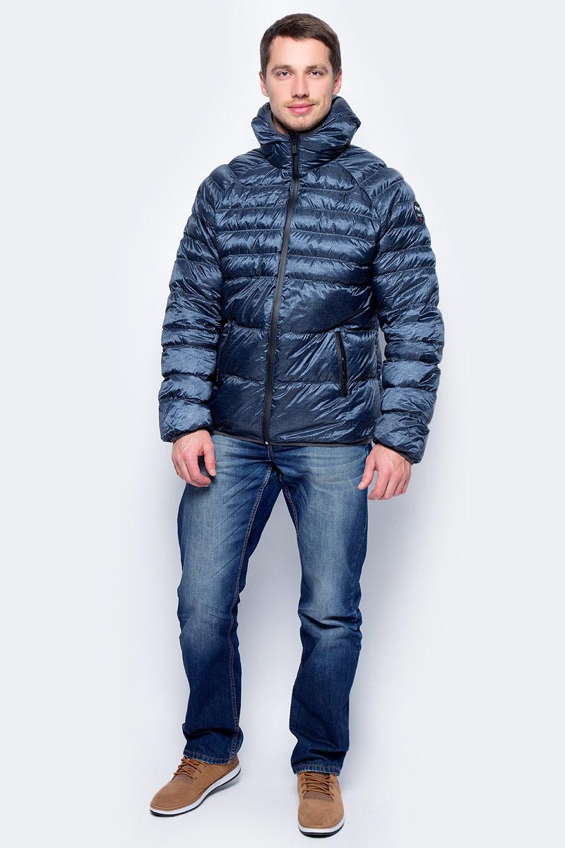 Пуховик мужской Pajar Micheal, цвет: синий. P6N407F6CI. Размер 3XL (56) пуховик мужской geox цвет темно зеленый m8225bt2449f3179 размер 56