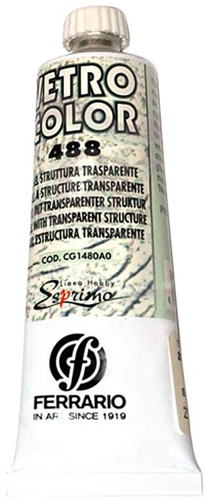 Ferrario Гель для красок по стеклу №488 цвет прозрачный 60 млCG1480A0Структурный прозрачный гель для красок по стеклу Gel struttura итальянской компании Ferrario. Применяется как в чистом виде, так и в сочетании с красками по стеклу (серия VETRO COLOR). Придает краскам густоту и объем при росписи на вертикальной поверхности. До высыхания можно обрабатывать инструментами, чтобы достичь различных эффектов.
