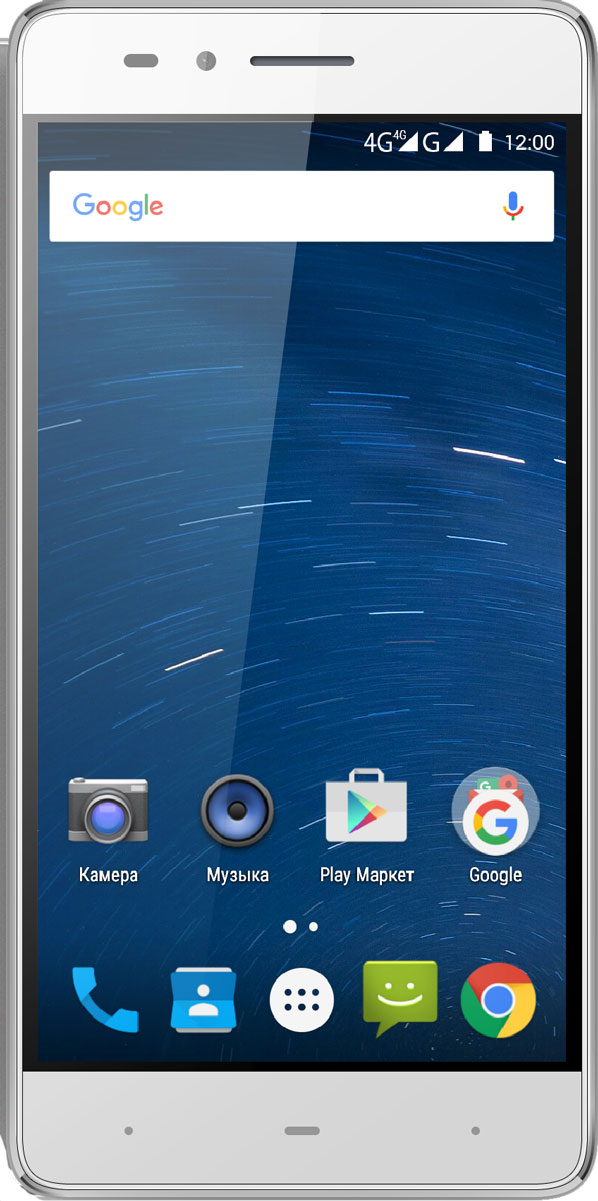 Highscreen Power Ice Evo, Silver Gray23934Тонкий смартфон с емким 5000 мАч аккумулятором.
