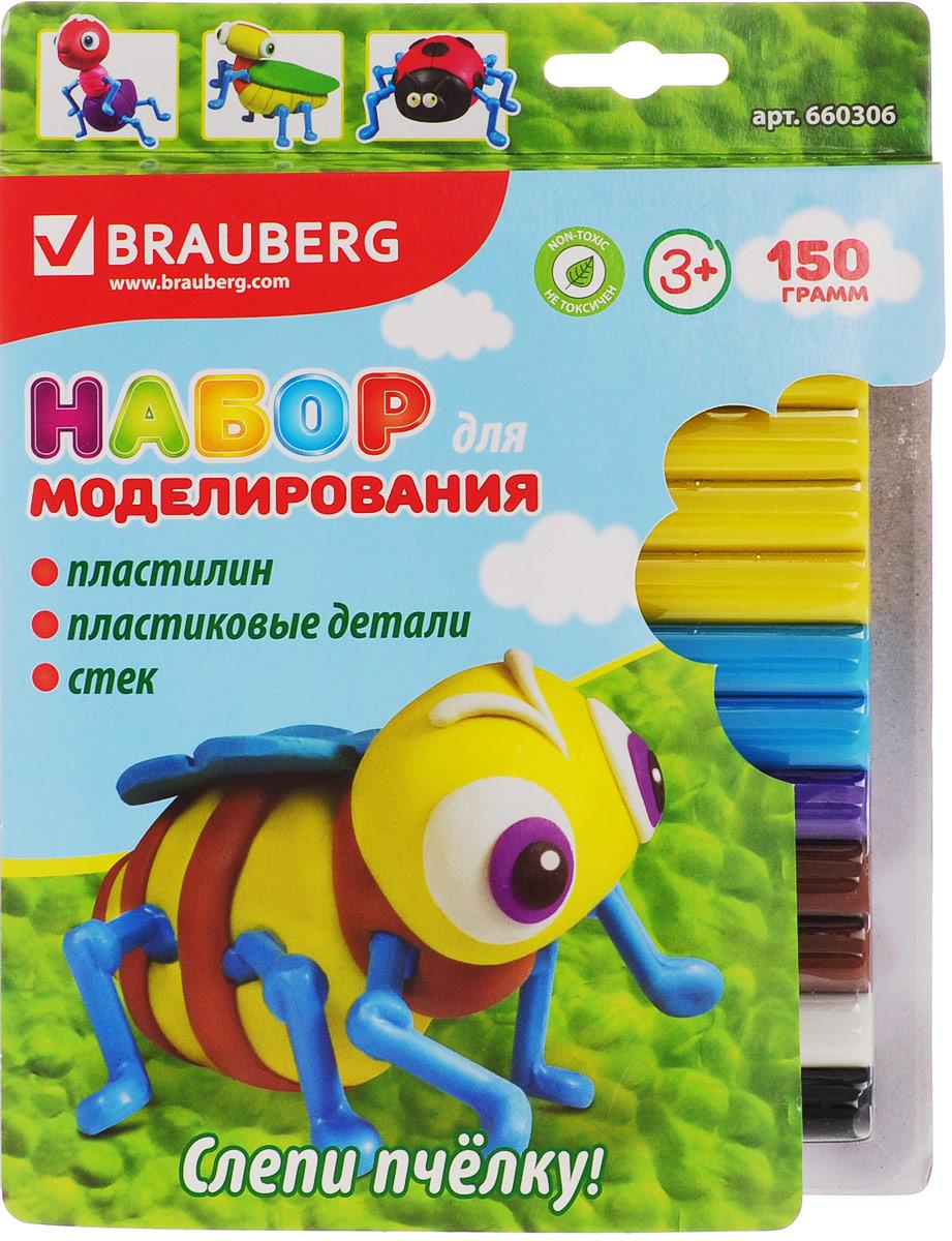 Brauberg Пластилин 12 шт + заготовка Пчелка660306_пчелкаBrauberg Пластилин 12 шт + заготовка Пчелка