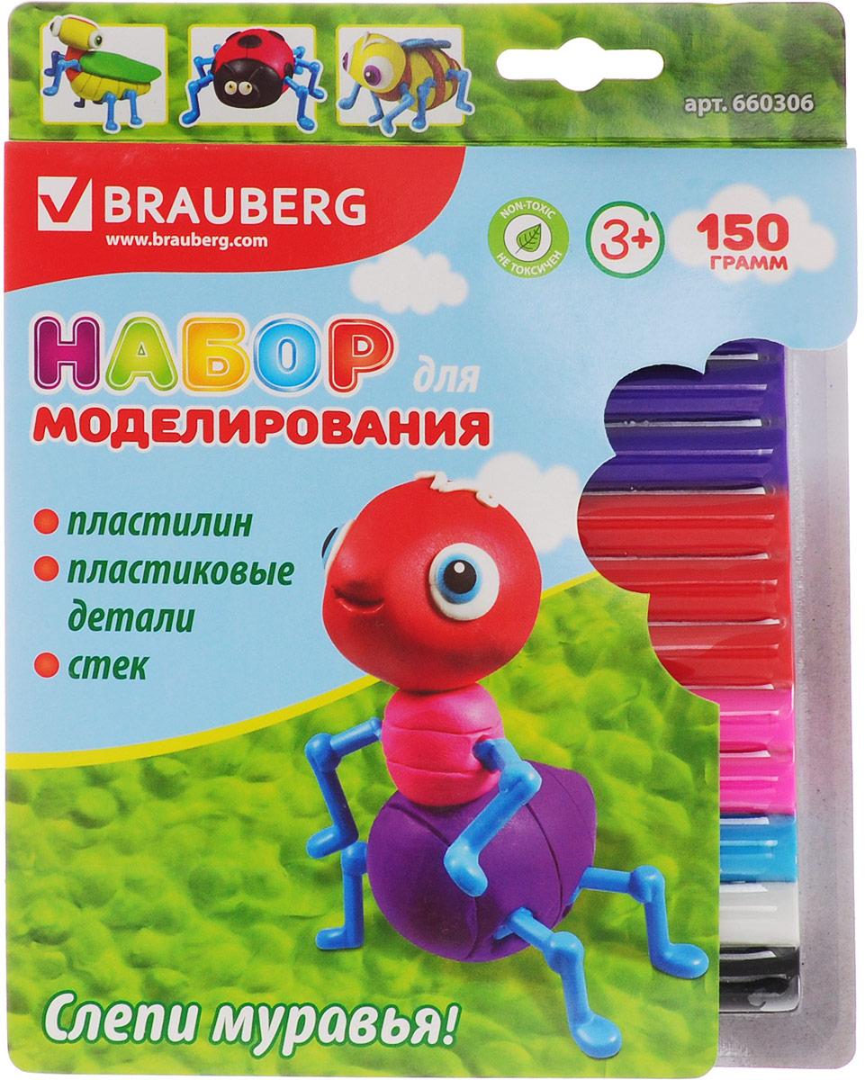 Brauberg Пластилин 12 шт + заготовка Муравей660306_муравейBrauberg Пластилин 12 шт + заготовка Муравей