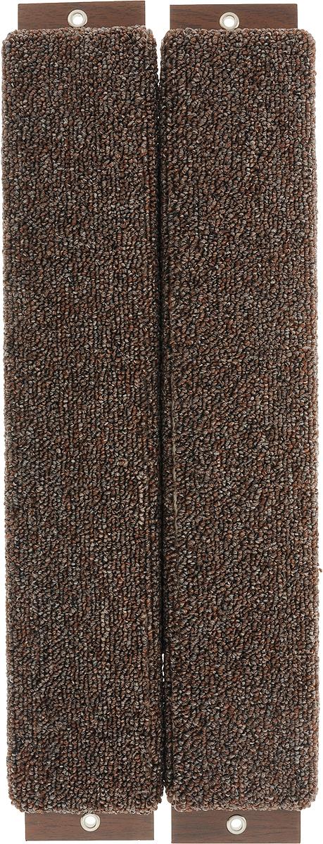 Когтеточка Неженка, угловая, с кошачьей мятой, цвет: коричневый, 51 х 20 х 2,5 см6921_коричневыйКогтеточка Неженка поможет сохранить мебель и ковры в доме от когтей вашего любимца, стремящегося удовлетворить свою естественную потребность точить когти.Основание изделия изготовлено из ДСП и обтянуто прочной тканью, а столб для точения когтей обтянут джутом. Товар продуман в мельчайших деталях и, несомненно, понравится вашей кошке.Всем кошкам необходимо стачивать когти. Когтеточка - один из самых необходимых аксессуаров для кошки. Для приучения к когтеточке можно натереть ее сухой валерьянкой или кошачьей мятой. Когтеточка поможет вашему любимцу стачивать когти и при этом не портить вашу мебель.