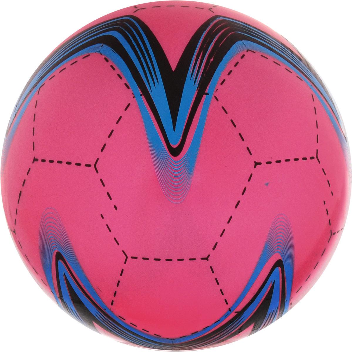 Забияка Мяч Звезда цвет красный 22 см