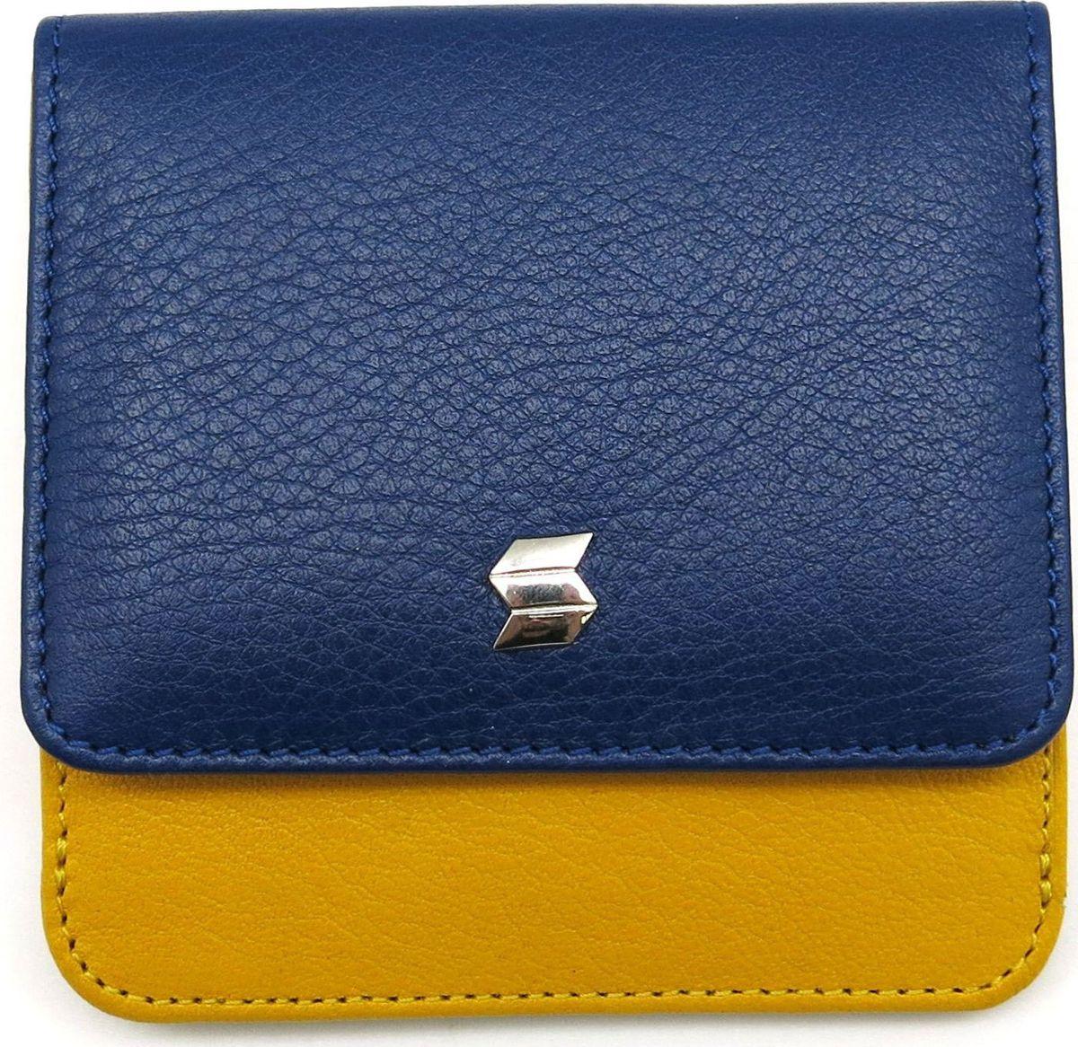 Портмоне женское Soltan, цвет: синий, желтый. 300 02 07/08