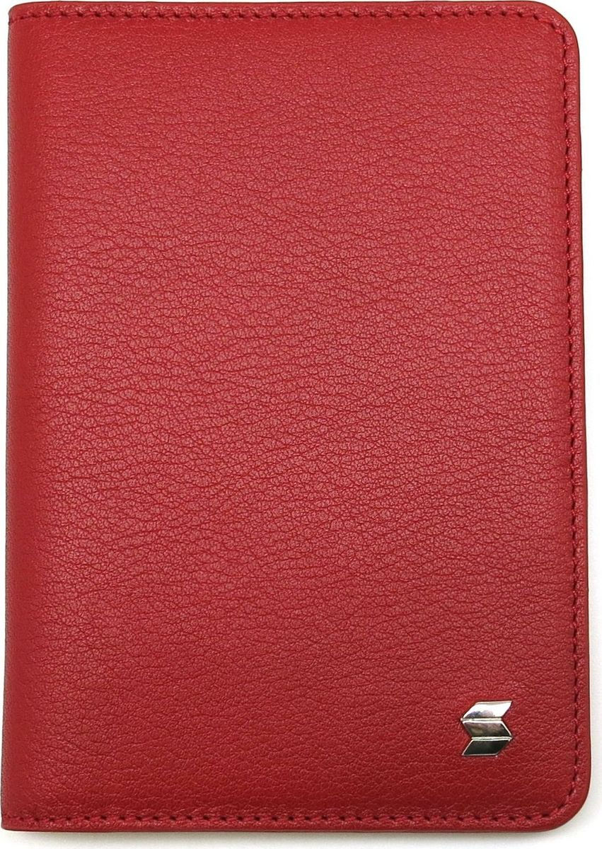 Обложка для паспорта женская Soltan, цвет: красный. 012 02 05 - Обложки для паспорта