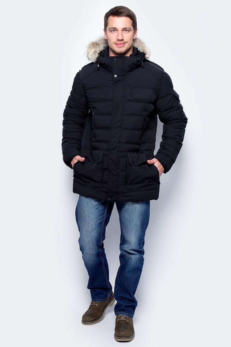 Куртка мужская Pajar Dawson, цвет: черный. P6J414F16SP. Размер L (50)P6J414F16SPМужская куртка Pajar с длинными рукавами и капюшоном выполнена из прочного полиэстера. Куртка застегивается на застежку-молнию спередии имеет ветрозащитный клапан на кнопках.
