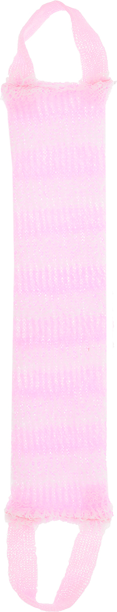 Мочалка Eva Букле. Полосы, вязаная, с ручками, цвет: розовый750_светло-коричневыйВязаная синтетическая мочалка Eva  Букле. Полосы, изготовленная из полипропилена, отлично очищает кожу и создает обильную пену. Онабыстросохнет, не требует ухода, существенно экономит моющее средство и имеет длительный срок службы.Размер мочалки (без учета ручек): 47 х 10 х 1 см.Длина мочалки (с учетом ручек): 64 см.