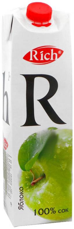 где купить Rich Яблочный сок, 1 л по лучшей цене