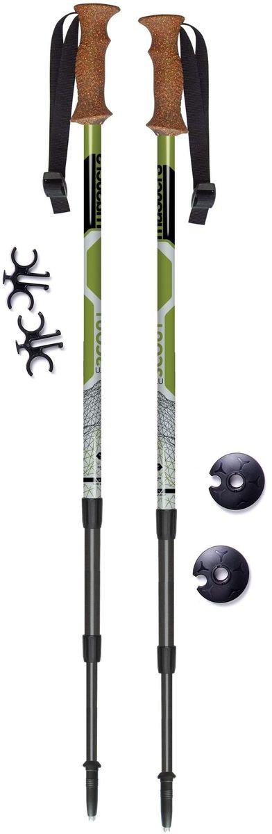 Палки для трекинга Masters  Recreational Backpaking. Scout Green , телескопические, цвет: зеленый, 65-140 см - Палки для трекинга