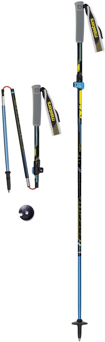 Палки для трекинга Masters  Expert Trail. Trecime Alu , телескопические, складные, цвет: черный, 35-135 см - Палки для трекинга