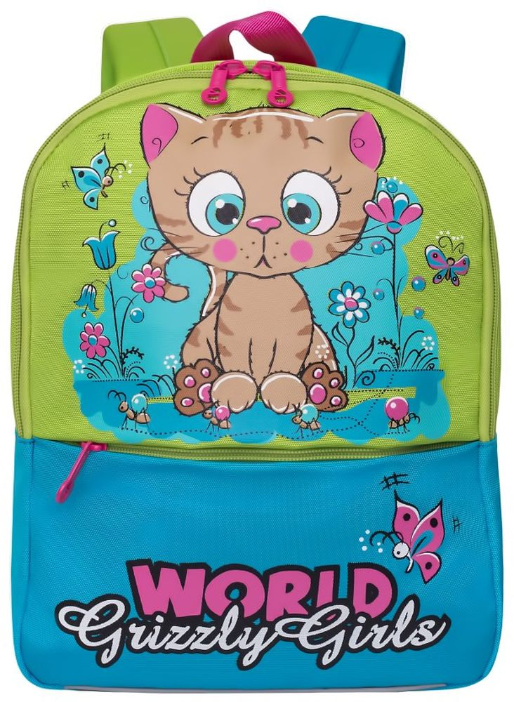Grizzly Рюкзак дошкольный цвет светло-зеленый RS-895-1/2 grizzly рюкзак дошкольный цвет серый rs 764 5