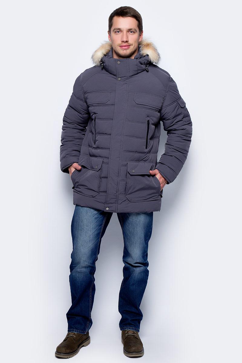 Куртка мужская Pajar Dawson, цвет: серый. P6J414F16SP. Размер XL (52)P6J414F16SPМужская куртка Pajar с длинными рукавами и капюшоном выполнена из прочного полиэстера. Куртка застегивается на застежку-молнию спередии имеет ветрозащитный клапан на кнопках.